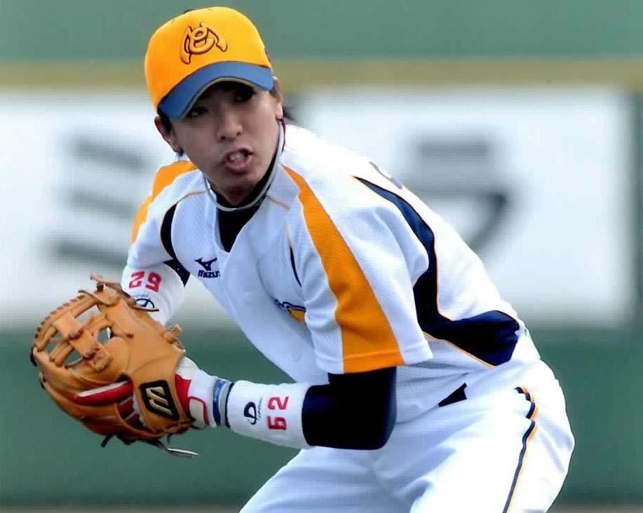 野球選手時代の写真
